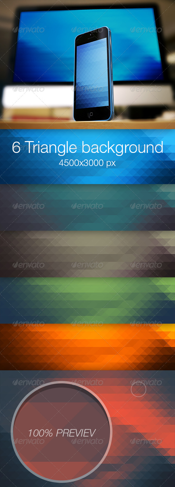 GraphicRiver Triangle colored background vol.2 6915361