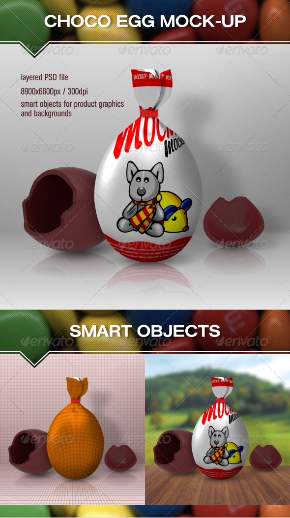 GraphicRiver Choco Egg Mock Up 6938684