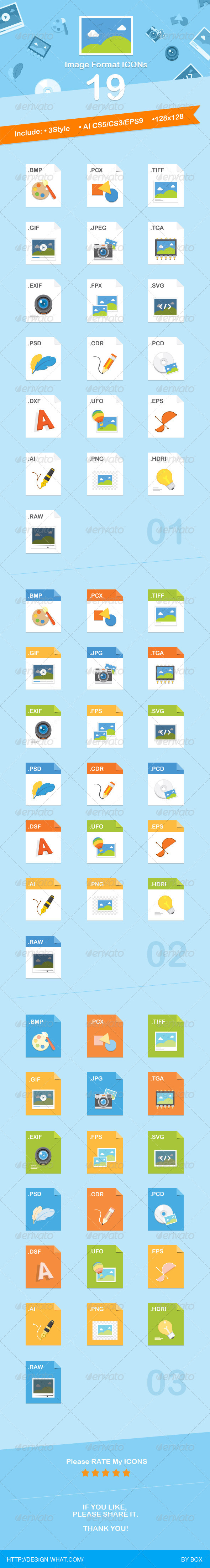 GraphicRiver 19 Image Format Icons 6938526