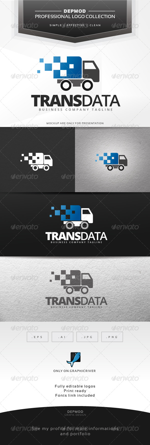 GraphicRiver Trans Data Logo 6938839