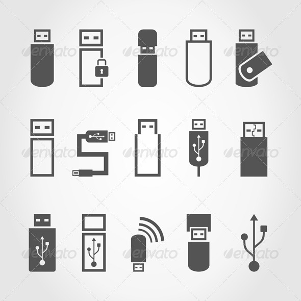 GraphicRiver USB Icons 6939666