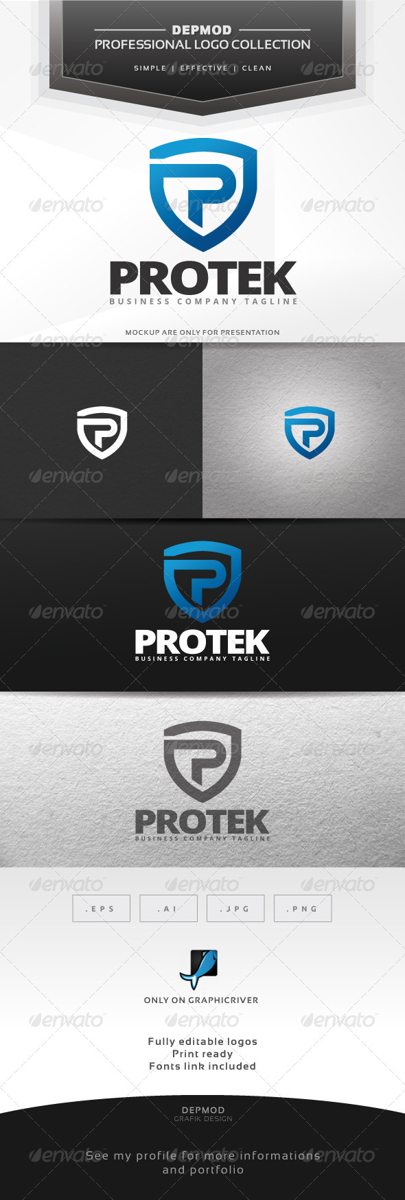 GraphicRiver Protek Logo 6939911