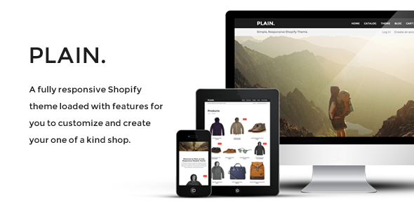 ThemeForest Plain Responsive Shopify Theme 6924624