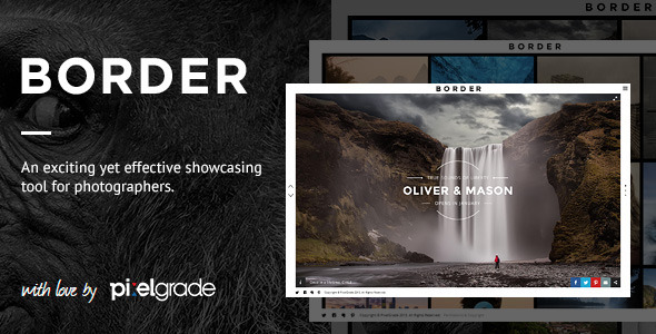 BORDER - A Delightful Photography WordPress Theme - Photography Creative