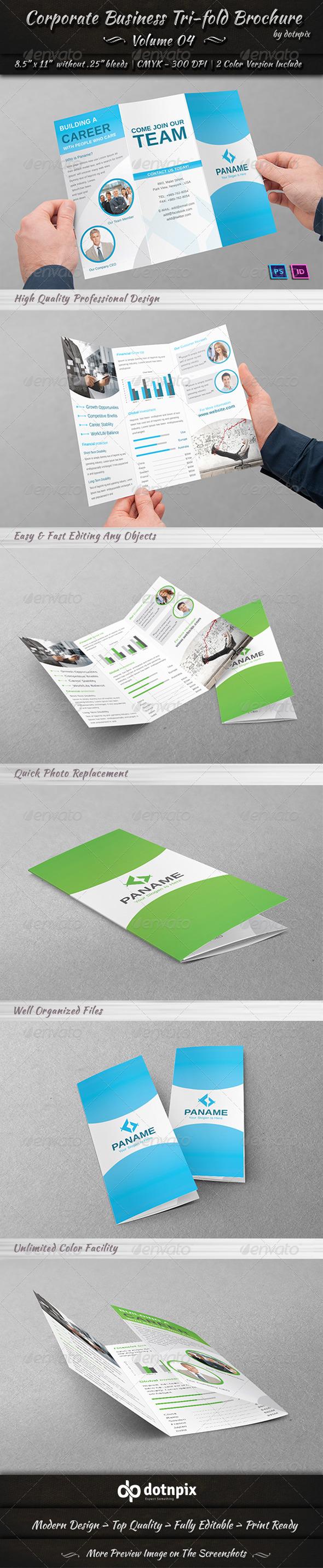 GraphicRiver Corporate Business Tri-fold Brochure Volume 4 6940200