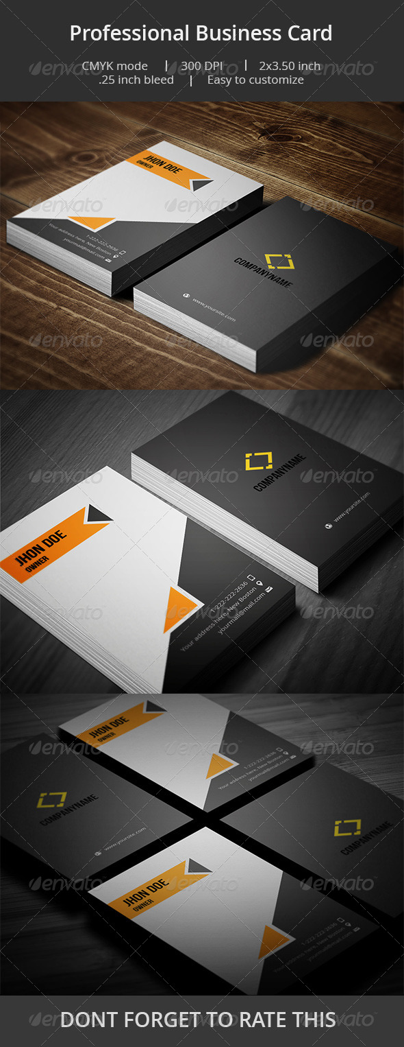 GraphicRiver Professional Business card 6940226