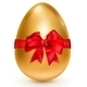 Golden Egg with Red Bow - GraphicRiver Item for Sale