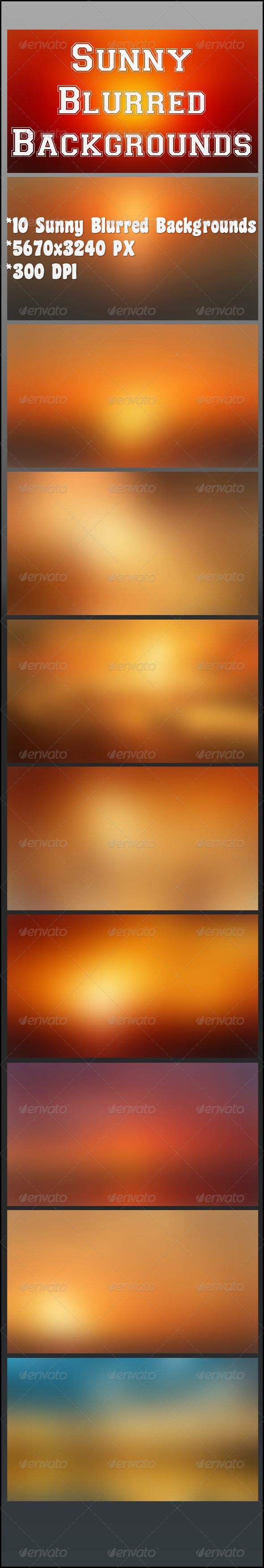 GraphicRiver Sunny Blurred Backgrounds 6940385