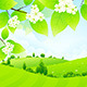 Green Landscape with Flowers - GraphicRiver Item for Sale