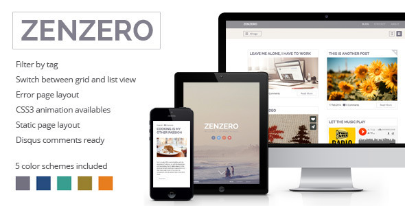 ThemeForest Zenzero Multipurpose Responsive Theme 6940966
