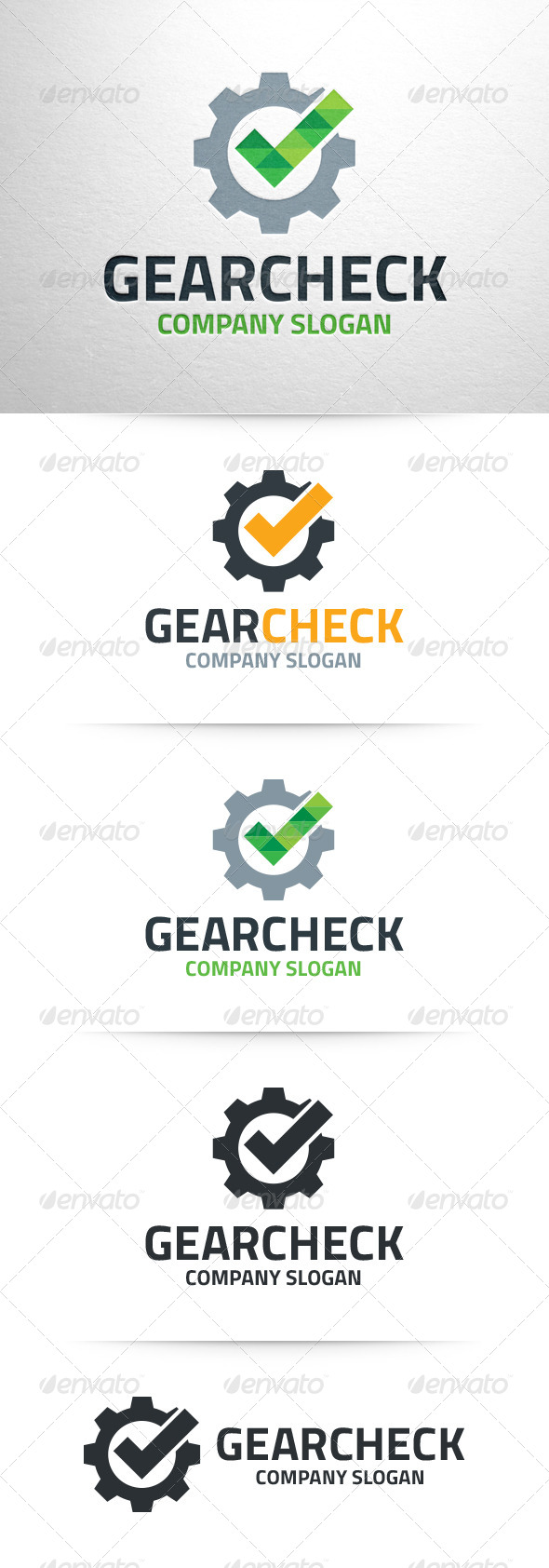 GraphicRiver Gear Check Logo Temlate 6941145