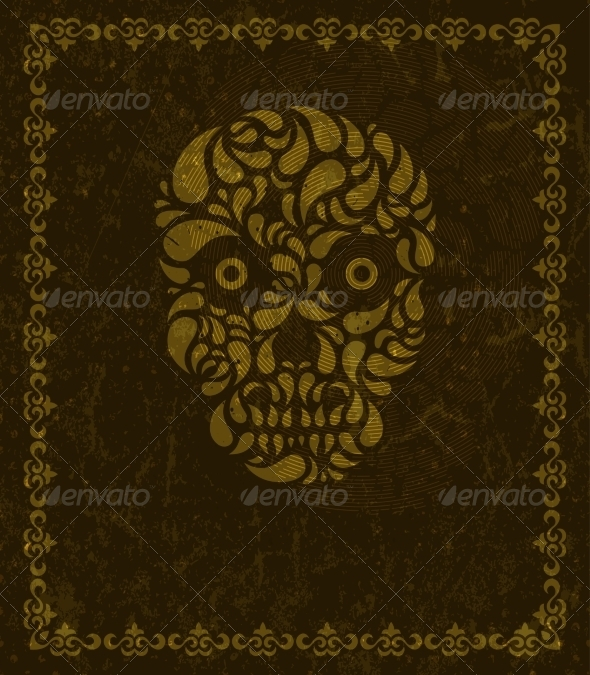 GraphicRiver Background with Skull and Frame 6941462