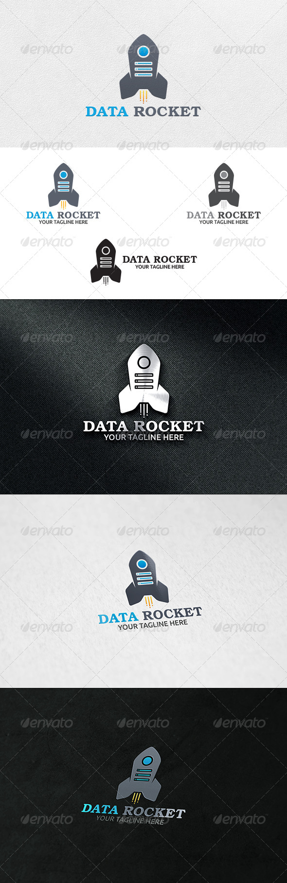 GraphicRiver Data Rocket Logo Template 6941697
