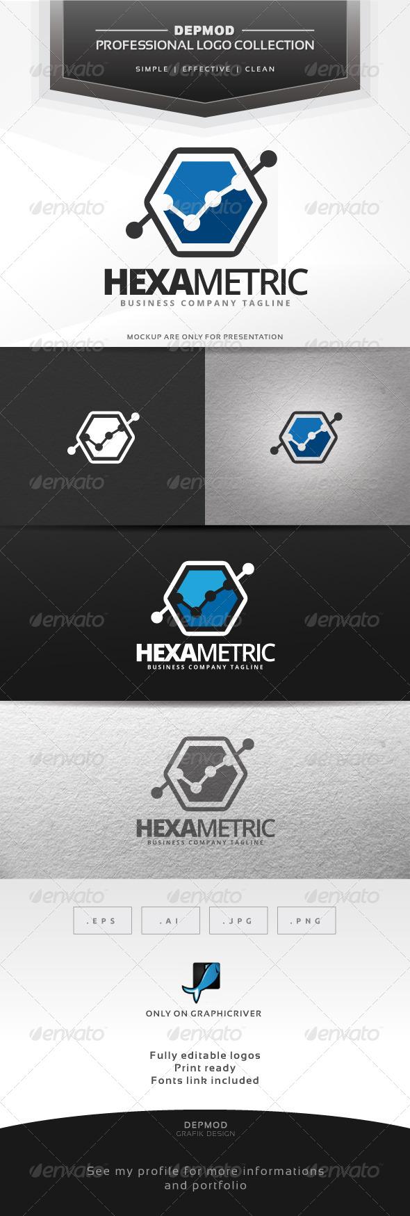 GraphicRiver Hexa Metric Logo 6941748
