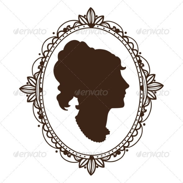 GraphicRiver Vignette Frame with Woman Profile 6941755