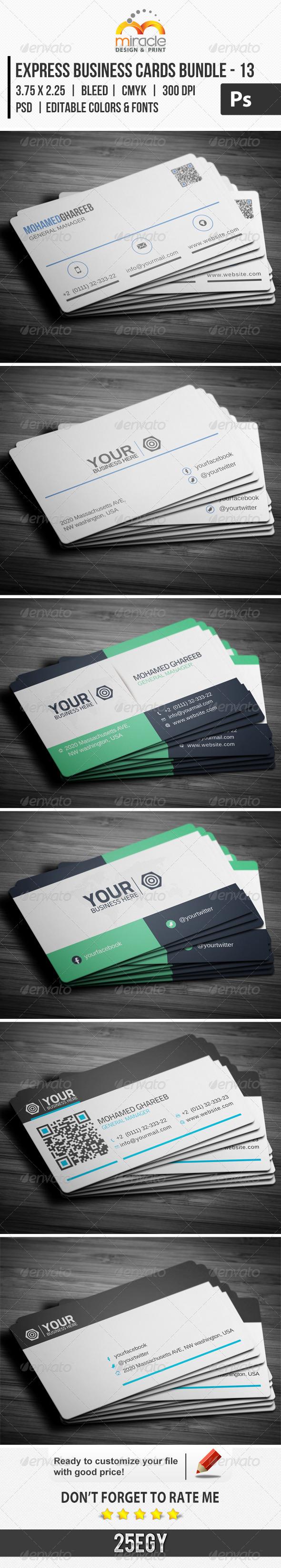 Express Business Cards Bundle 13