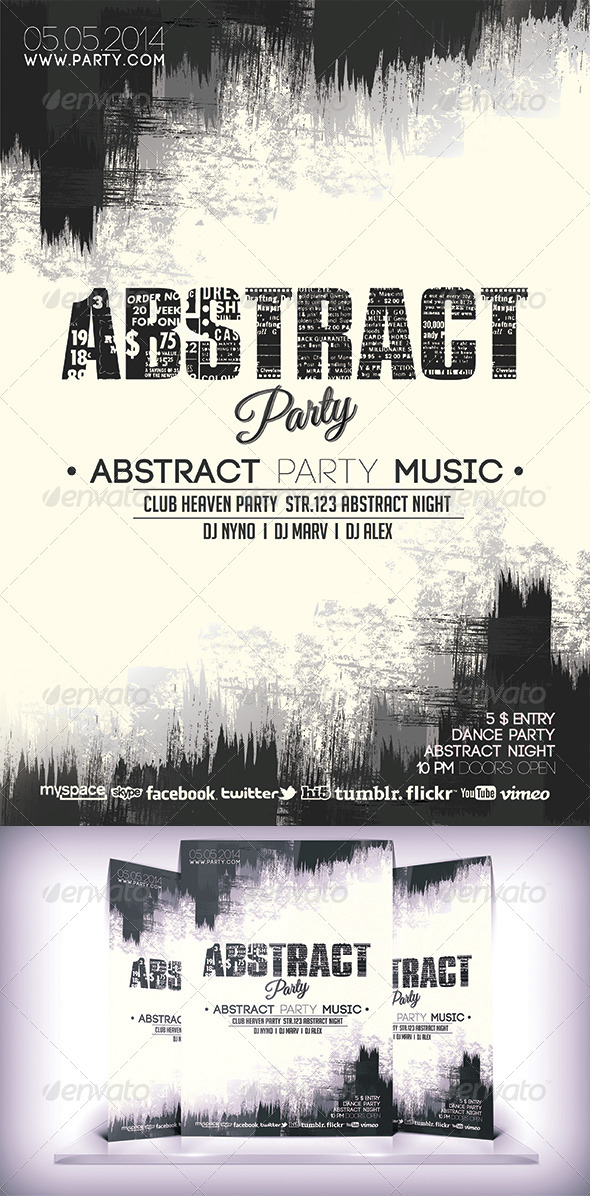 GraphicRiver Abstract Party Flyer 6941775