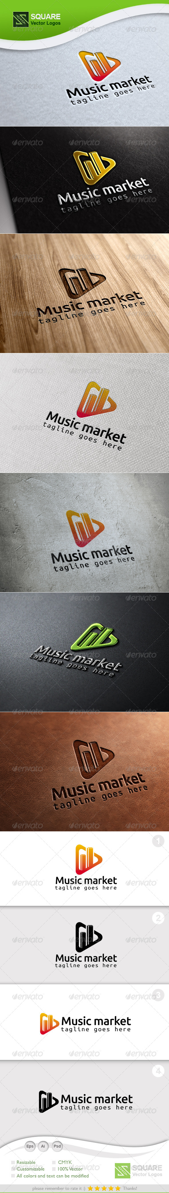 GraphicRiver Play Graph Vector Logo Template 6941879