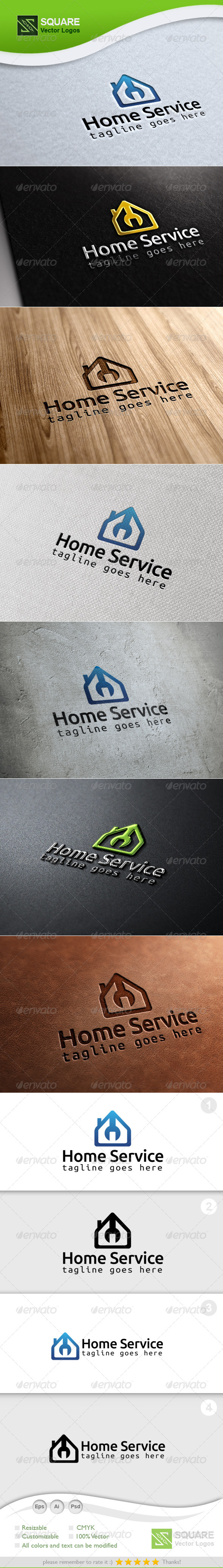 Home, Wrench Vector Logo Template - Buildings Logo Templates