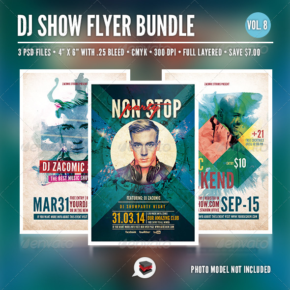 GraphicRiver Dj Flyer Bundle Vol 8 6941900