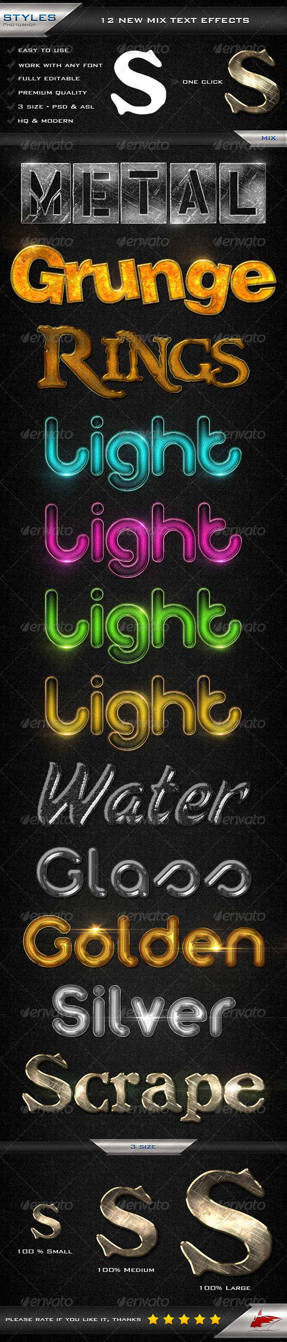 GraphicRiver 12 New Mix Text Effects 6941907