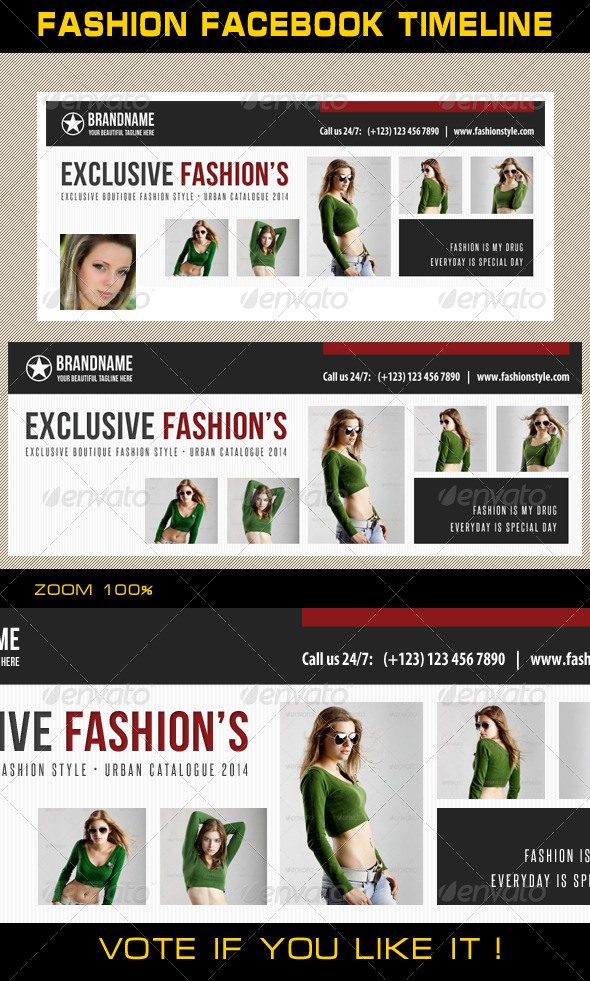 GraphicRiver Fashion Facebook Timeline 10 6941921