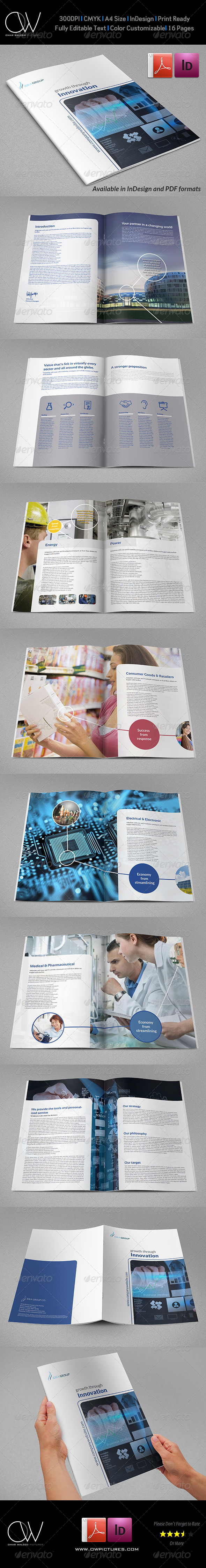 Corporate Brochure Template Vol.27 16 Pages