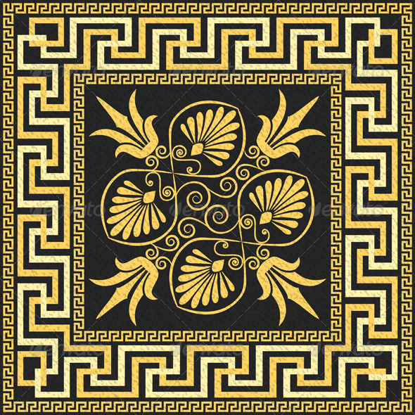 GraphicRiver Traditional Vintage Gold Greek Ornament 6942004