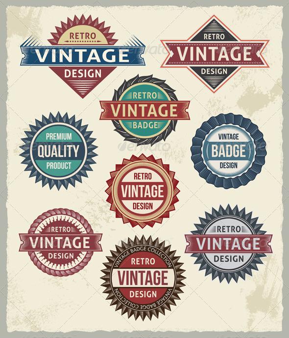 GraphicRiver Retro Badges and Vintage Insignias 6942064
