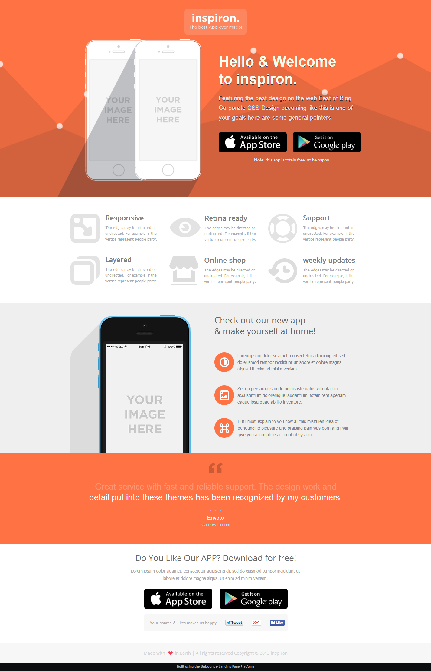 inspiron - Unbounce Landing Page Templates Bundle