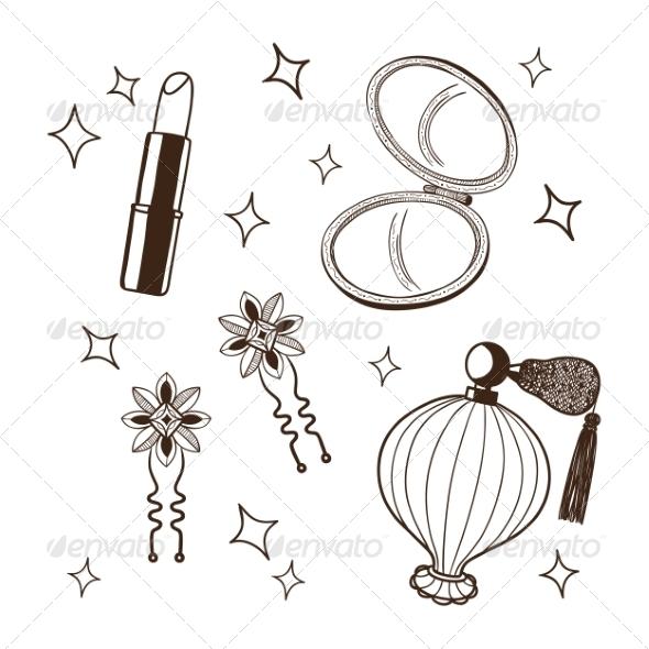 GraphicRiver Women s Accessories Set 6942122