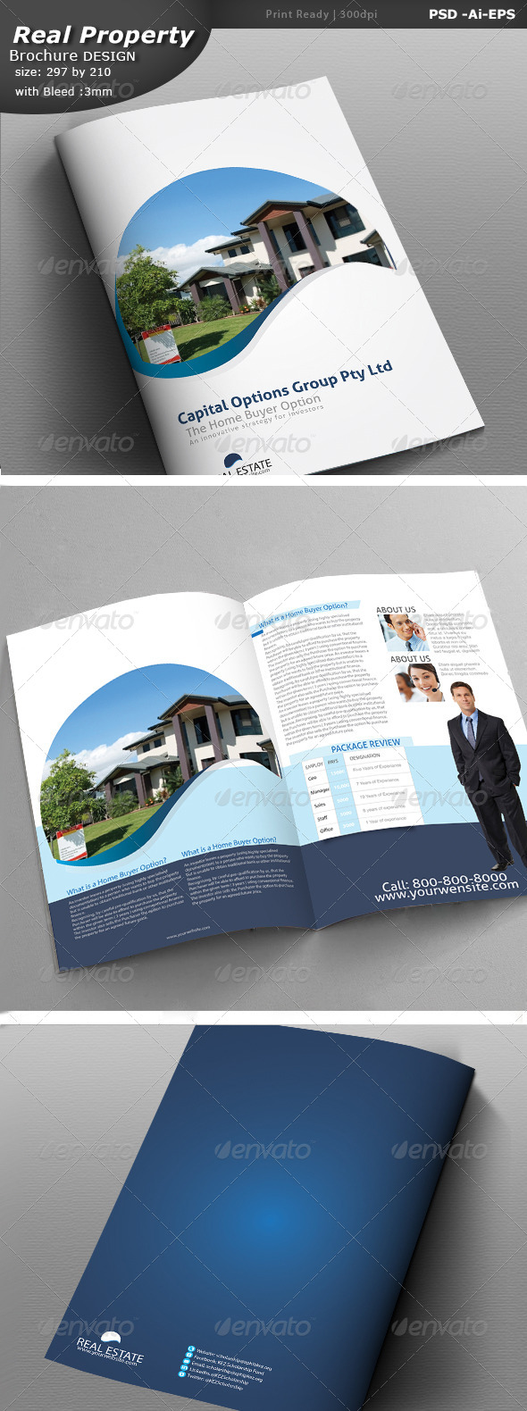 GraphicRiver Real Estate Brochure Design 6927030