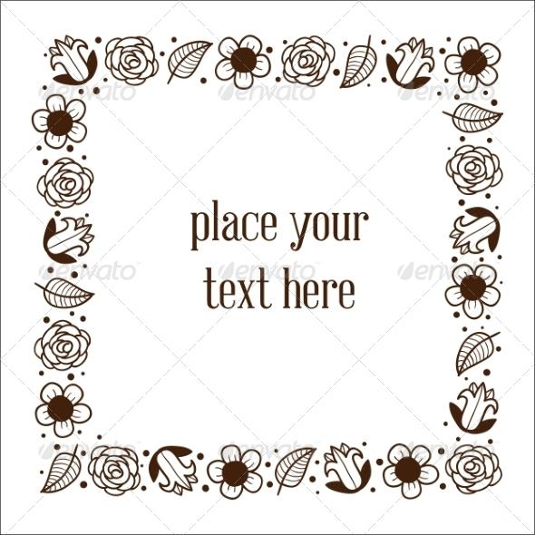 GraphicRiver Floral Frame 6942402