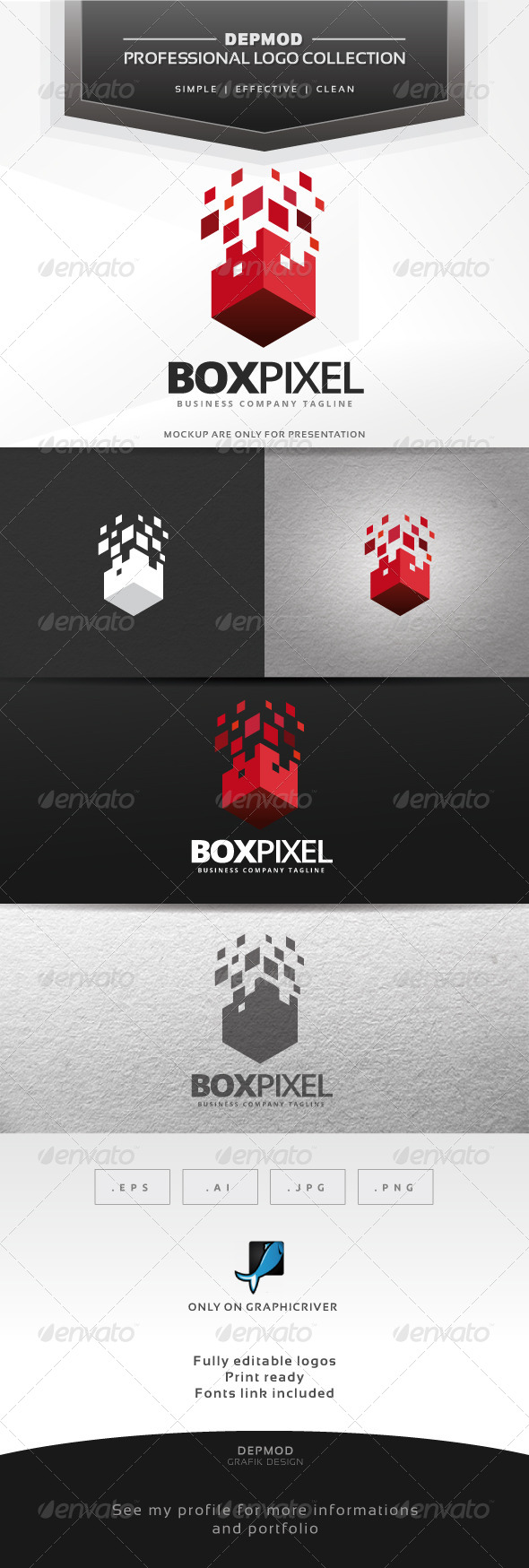 GraphicRiver Box Pixel Logo 6942404