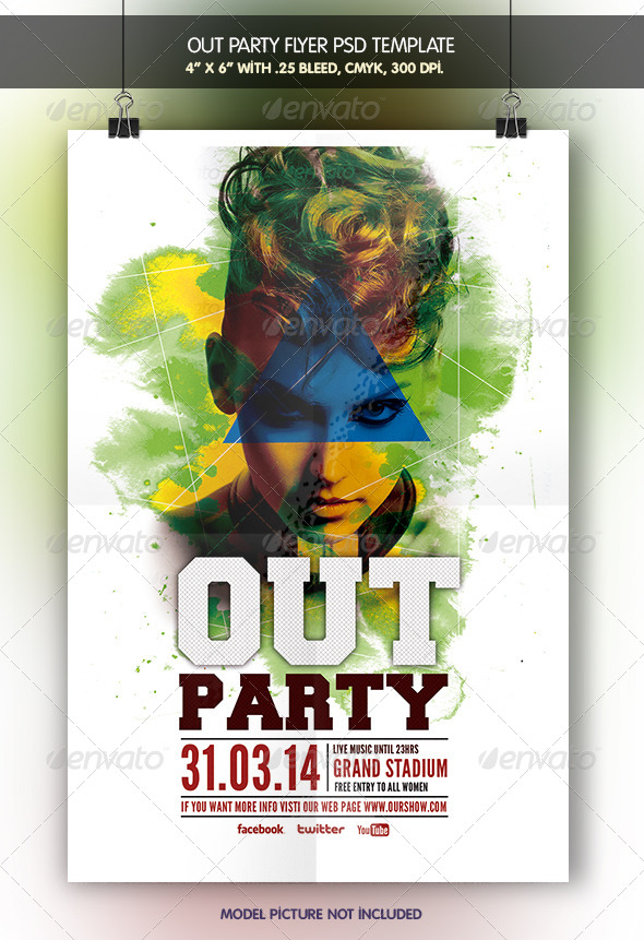 Out Party Flyer Template