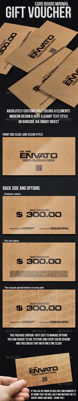 Minimal gift voucher cardboard