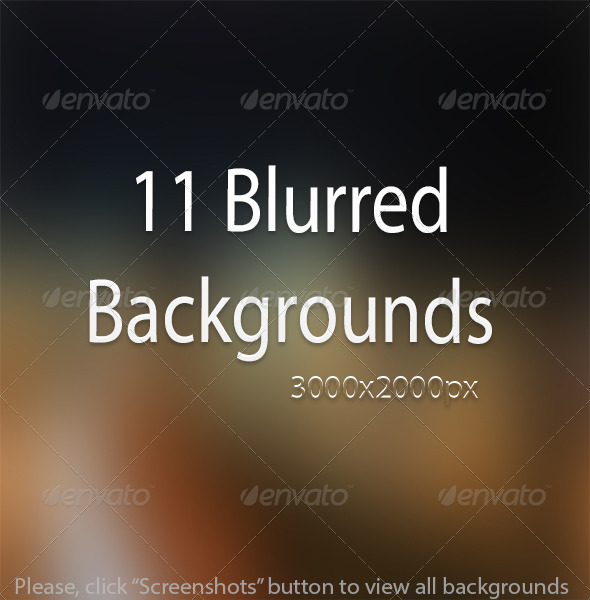 GraphicRiver 11 Creative Blur Backgrounds 6942667