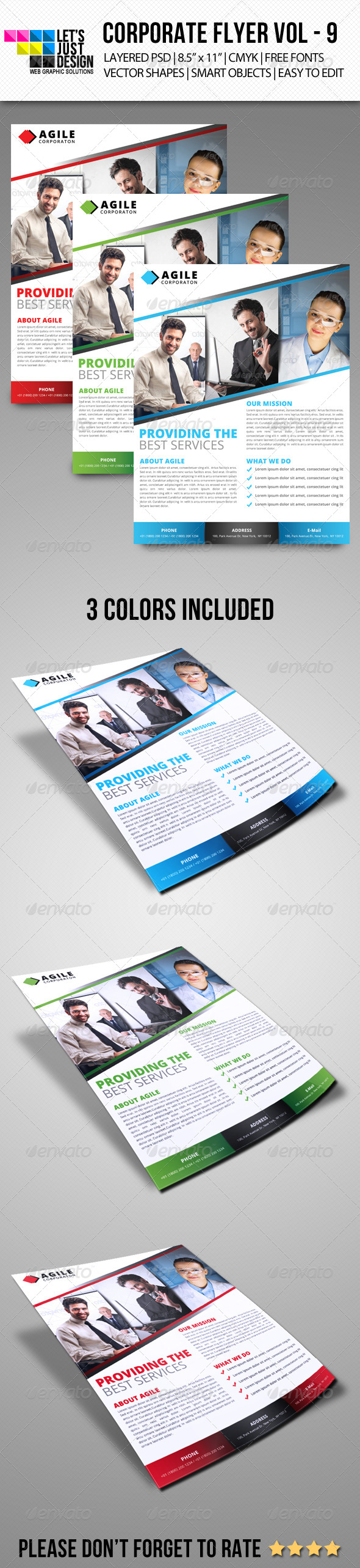 GraphicRiver Corporate Flyer Template Vol 9 6942721