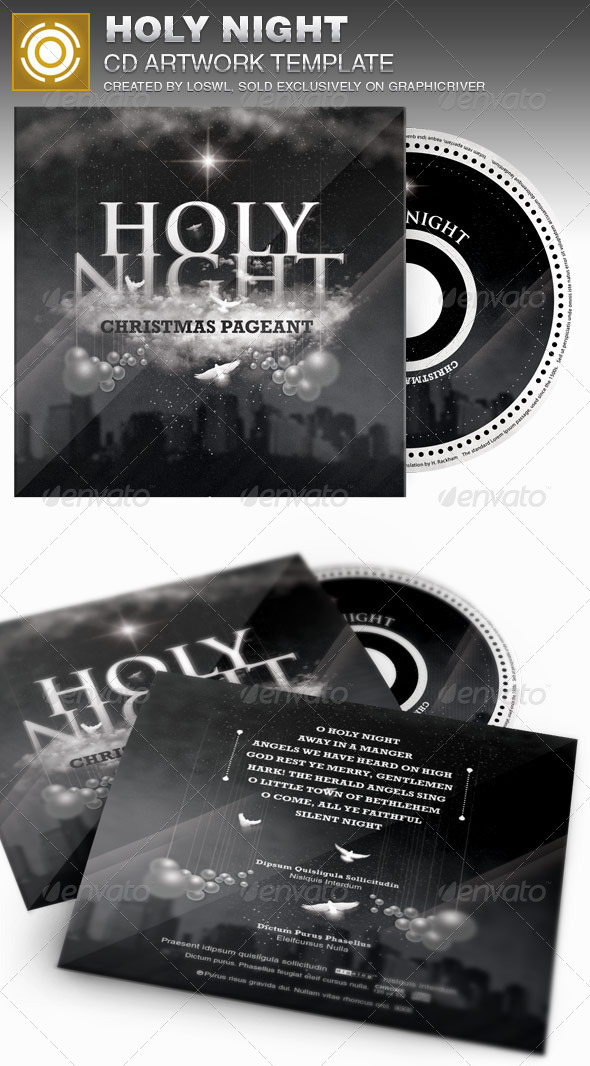 GraphicRiver Holy Night Christmas CD Artwork Template 6942733