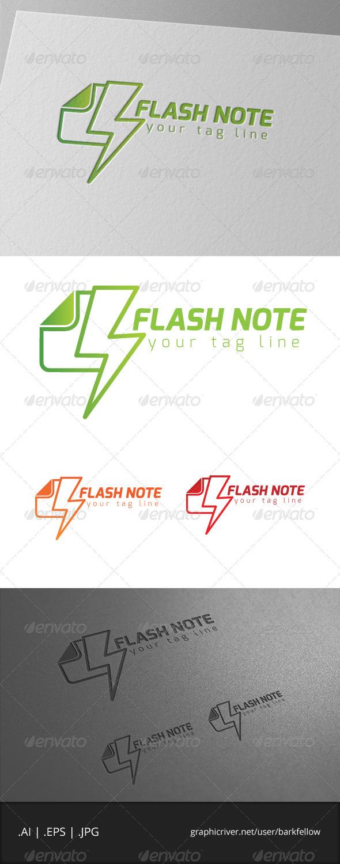 GraphicRiver Flash Note Logo 6942744