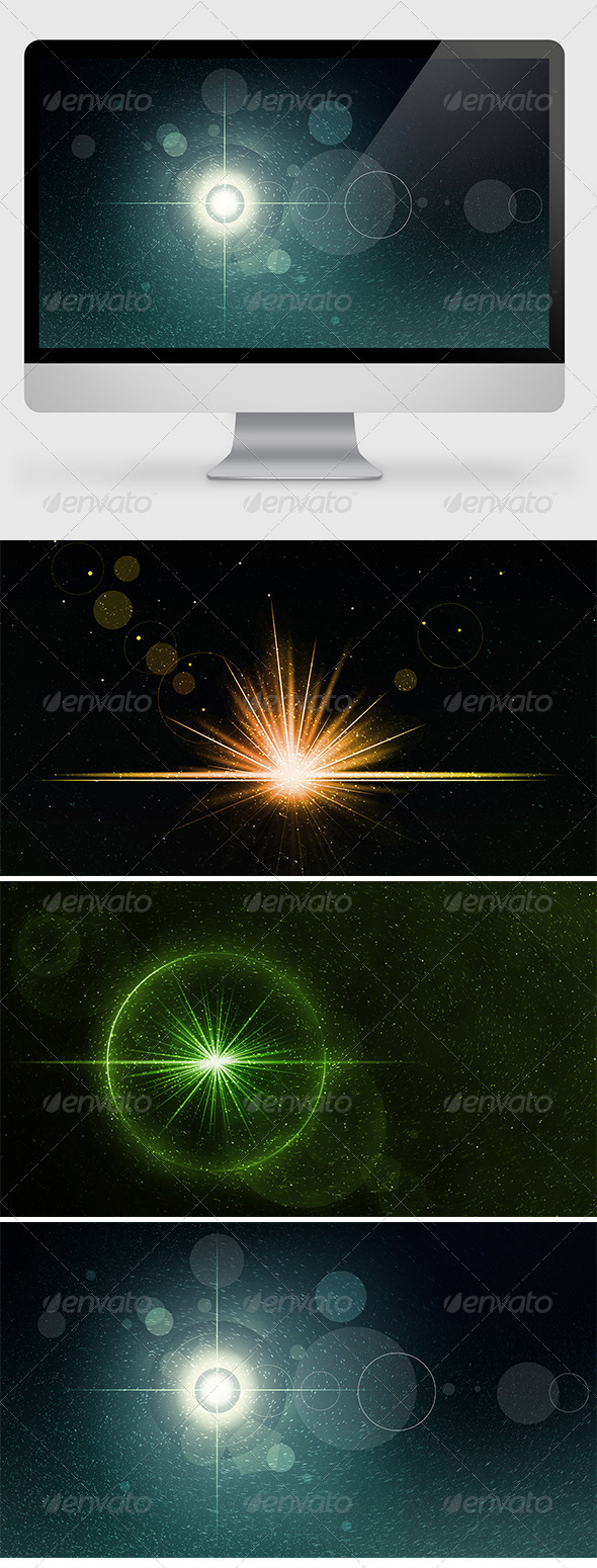 GraphicRiver Epic Flare Backgrounds Wallpapers 6942805