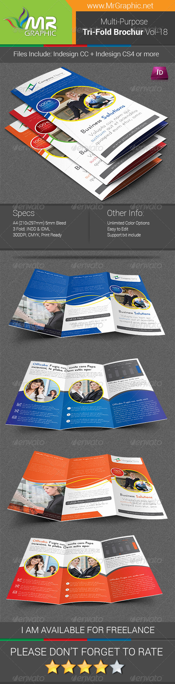 GraphicRiver Multipurpose Business Tri-Fold Brochure Vol-18 6942870