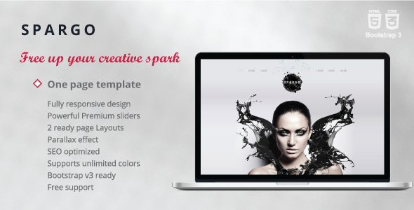 ThemeForest Spargo Responsive Single Page Template 6925395