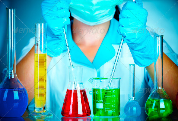 scientist in laboratory - Stock Photo - Images
