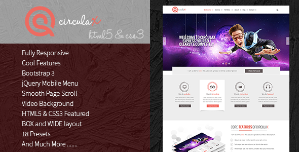 ThemeForest CirculaX Responsive HTML5 Template 6923907