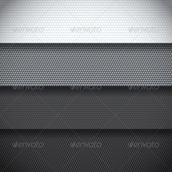GraphicRiver Background of Four Carbon Fiber Patterns 6943180