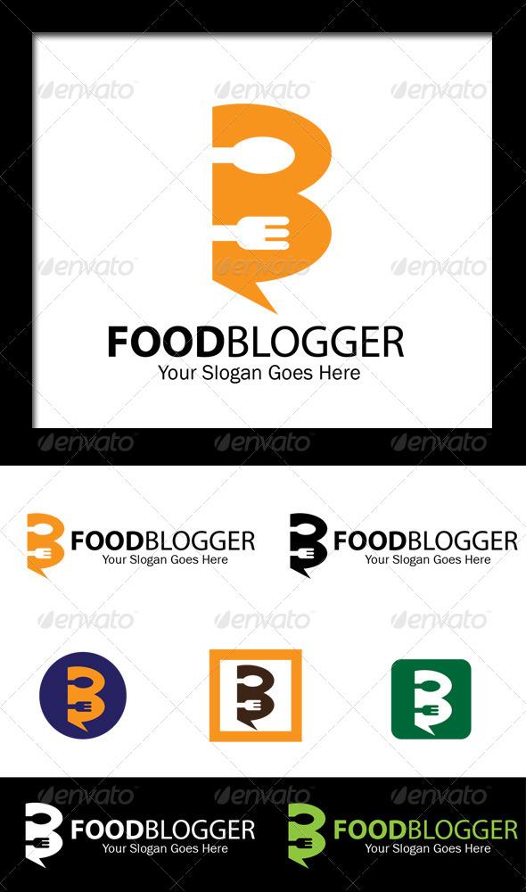 GraphicRiver Food Blogger Letter B Logo 6940081
