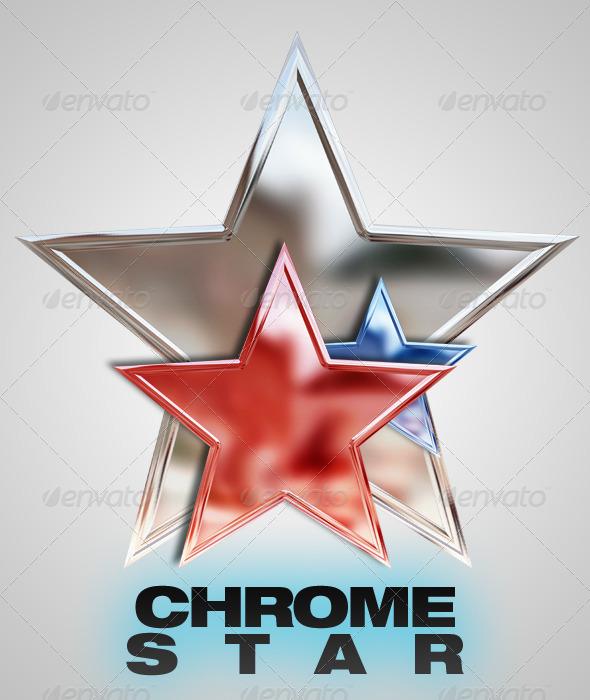 GraphicRiver Chrome Star 6943236
