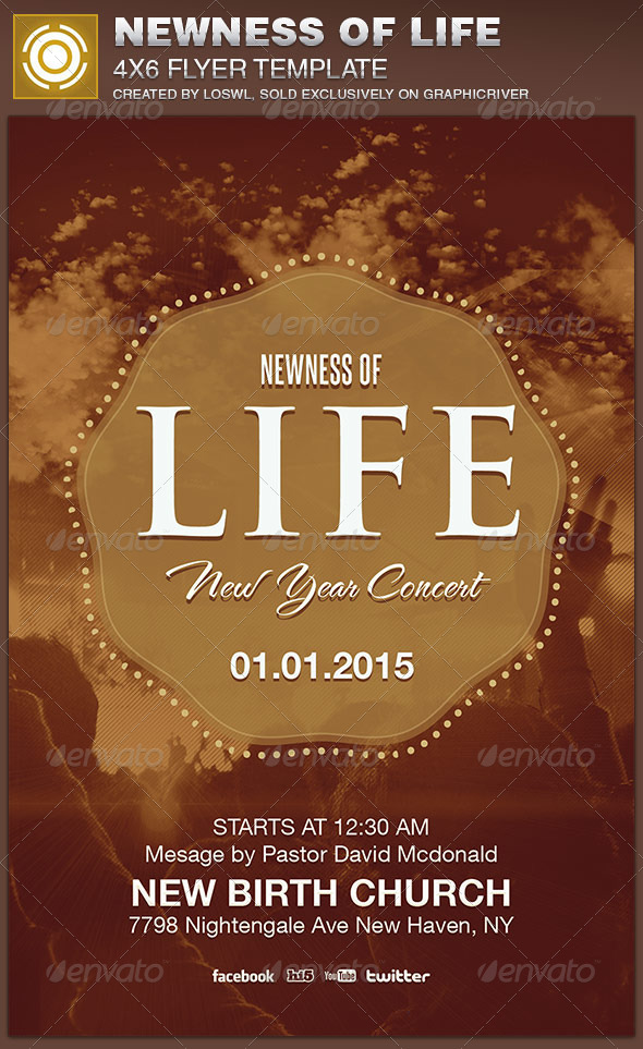 GraphicRiver Newness of Life Church Flyer Template 6943349