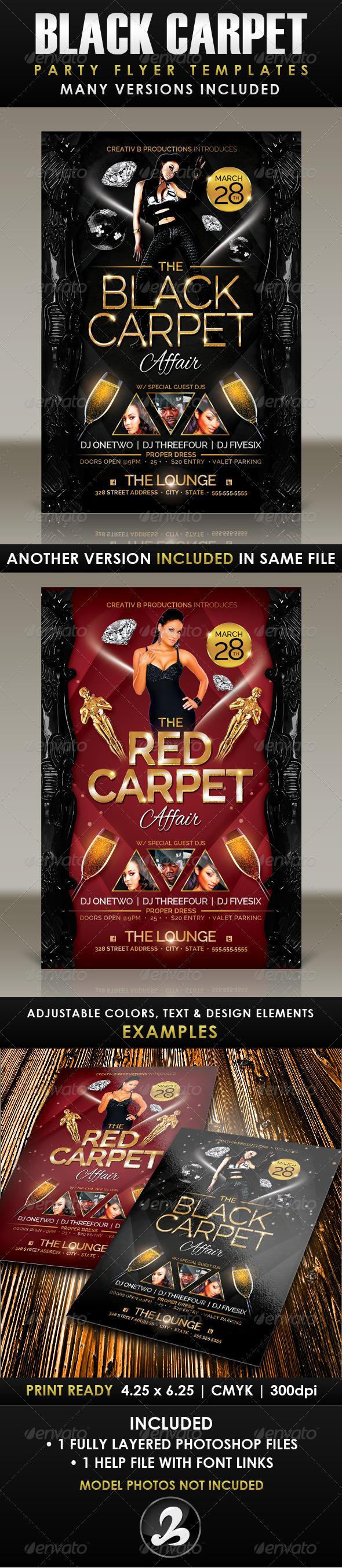 GraphicRiver Black Carpet Party Flyer Template 6943358